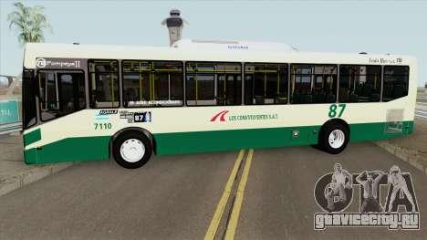 Linea 87 Todobus Pompeya II Agrale MT15 Interno для GTA San Andreas