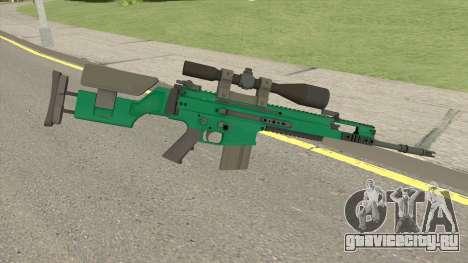 CS-GO SCAR-20 (Emerald Bravo Skin) для GTA San Andreas