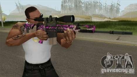 CS-GO SCAR-20 (Blaze Pink Skin) для GTA San Andreas