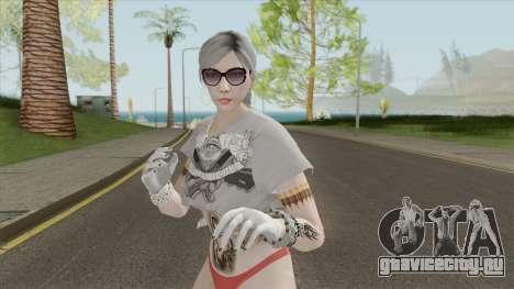 Skin Female Instagram Tugh Dancer GTA V для GTA San Andreas