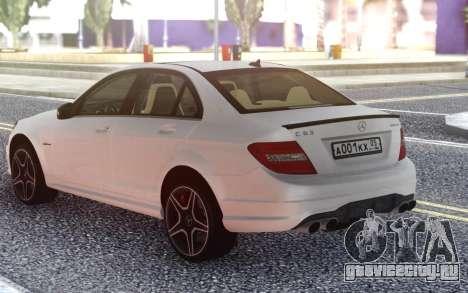 Mercedes-Benz C63 AMG W204 для GTA San Andreas