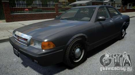 Vapid Stanier Unmarked Cruiser для GTA 4