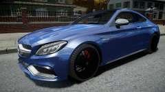 Mercedes-Benz AMG C63 S 2016 для GTA 4