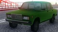 ВАЗ 2107 Зеленый Седан для GTA San Andreas