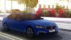 BMW 760Li Blue Sedan для GTA San Andreas
