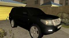 Toyota Land Cruiser 200 2008 Black для GTA San Andreas