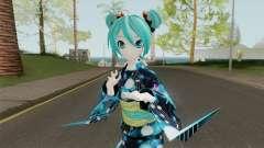 Miku Hatsune in Yukata Style для GTA San Andreas