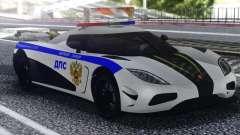 Koenigsegg Agera R Police для GTA San Andreas