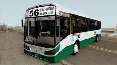 Linea 56 Todobus Pompeya II Agrale MT15 Interno для GTA San Andreas