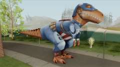 T-Rex Captain America From Avengers Academy для GTA San Andreas