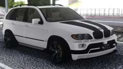 BMW X5 Black And White для GTA San Andreas
