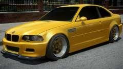BMW M3 E46 Yellow для GTA 4