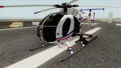 AH-6J Little Bird GBS News Chopper для GTA San Andreas