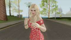 Rachel Casual Red Flower Dress для GTA San Andreas