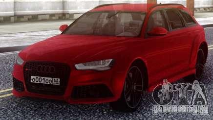 Audi RS6 Avant Red для GTA San Andreas
