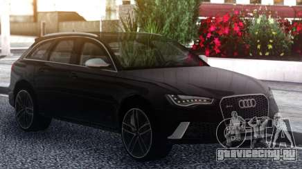 Audi RS6 Black для GTA San Andreas