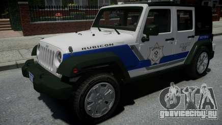 Jeep Wrangler Rubicon 2013 Police для GTA 4