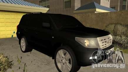 Toyota Land Cruiser 200 2008 Black для GTA San Andreas