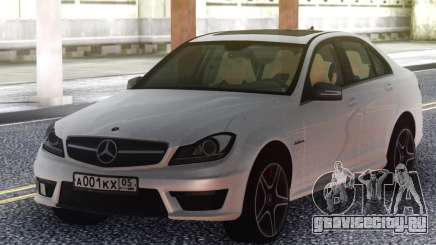 Mercedes-Benz C63 AMG W204 White для GTA San Andreas