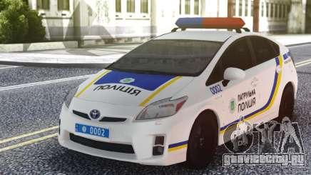 Toyota Prius Патрульная Полиция Украины для GTA San Andreas