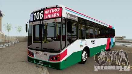 Linea 106 Todobus Pompeya II Agrale MT17 Interno для GTA San Andreas