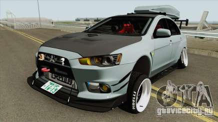Mitsubishi Lancer Evolution X Hellaflush 2015 для GTA San Andreas
