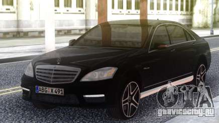 Mercedes-Benz S65 AMG 2012 Black для GTA San Andreas