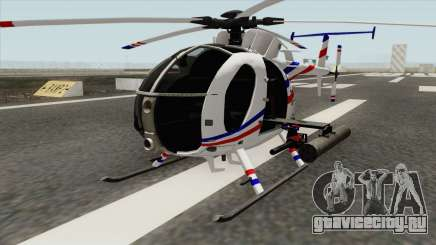 AH-6J Little Bird GBS News Chopper для GTA San Andreas