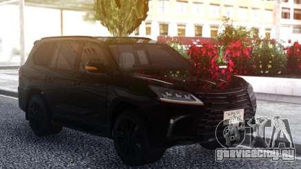 Lexus LX570 2016 BLACK для GTA San Andreas