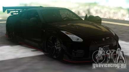 Nissan GT-R R35 Black для GTA San Andreas