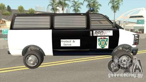 Declasse Burrito Police Transport R.P.D для GTA San Andreas