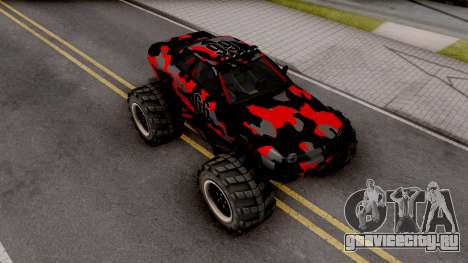 Nissan Skyline R32 Monster Truck Camo v2 для GTA San Andreas