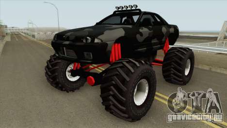 Nissan Skyline R32 Monster Truck Camo для GTA San Andreas
