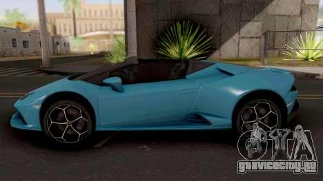Lamborghini Huracan EVO Spyder для GTA San Andreas