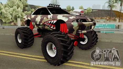 Nissan Skyline R32 Monster Truck Camo Shark для GTA San Andreas