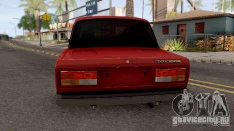 ВАЗ 2107 Mestnaya для GTA San Andreas