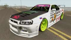 Nissan Skyline R34 GT-R (MTA Tokyo Drift) для GTA San Andreas