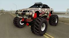 Nissan Skyline R32 Monster Truck Camo Shark для GTA San Andreas