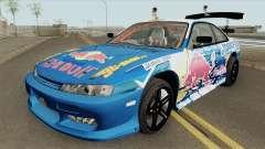 Nissan Silvia S14 RedBull (MTA Tokyo Drift) для GTA San Andreas
