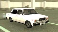 ВАЗ 2107 Седан Белый для GTA San Andreas
