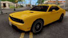 Dodge Challenger SRT8 Yellow для GTA San Andreas