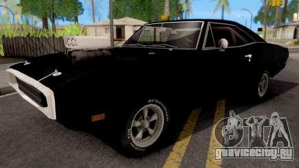Dodge Charger 1970 Black для GTA San Andreas