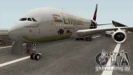 Airbus A380-800 (United For Wildlife Livery) для GTA San Andreas