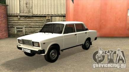 ВАЗ 2107 Сток Белый для GTA San Andreas