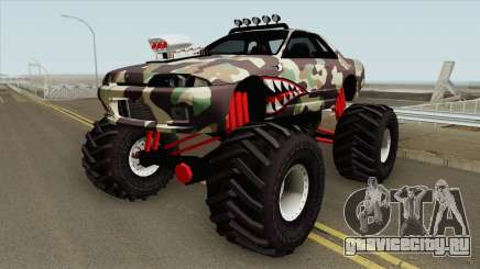 Nissan Skyline R32 Monster Truck Camo Shark MQ для GTA San Andreas