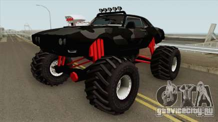 Pontiac Firebird Monster Truck Camo 1968 Black для GTA San Andreas