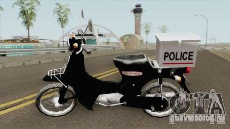 Honda Super Cub Police Version B для GTA San Andreas