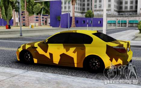BMW M5 E60 Camo для GTA San Andreas
