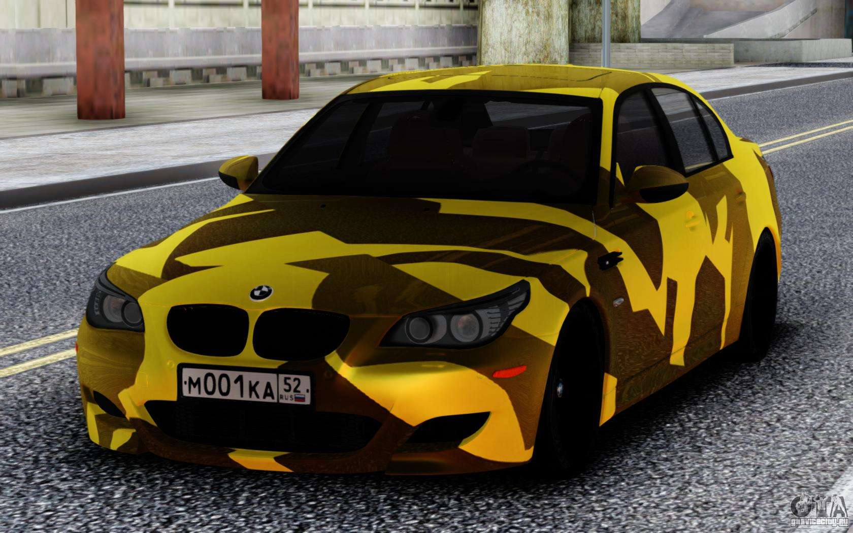 BMW M5 E60 Yellow Camo для GTA San Andreas