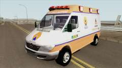 Mercedes-Benz Sprinter Ambulance (Defesa Civil) для GTA San Andreas